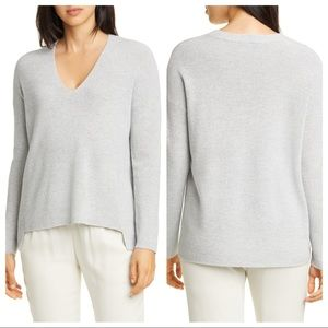 NWT Eileen Fisher Boxy Shimmer Wool Blend Top